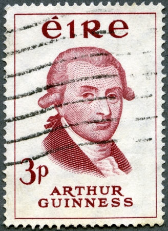 IRELAND - CIRCA 1959: stamp printed in Ireland shows Arthur Guinness (1725-1803), Bicentenary of Guinness Brewery, circa 1959 Stock Photo - 13893278
