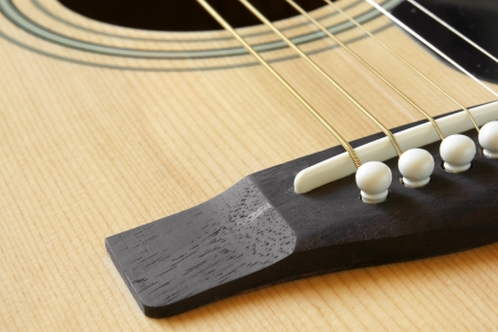 Detail of classic acoustic guitar, a horizontal picture photo