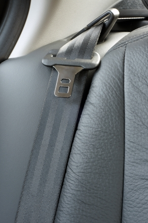 Safety belt in a car, a vertical picture photo