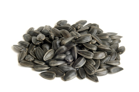 sunflower seeds: Sunflower seeds on a white background