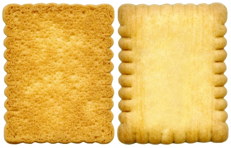 rectangular: Cookies isolated on a white background Stock Photo
