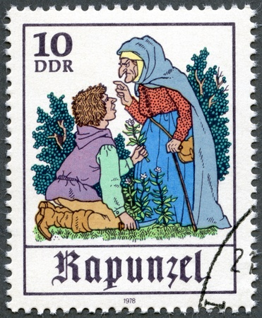 postal card: GERMANY - CIRCA 1978: A stamp printed in Germany shows Scene from fairy tale  Editorial
