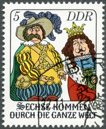 postal card: GERMANY - CIRCA 1977: A stamp printed in Germany shows scene from fairytale: