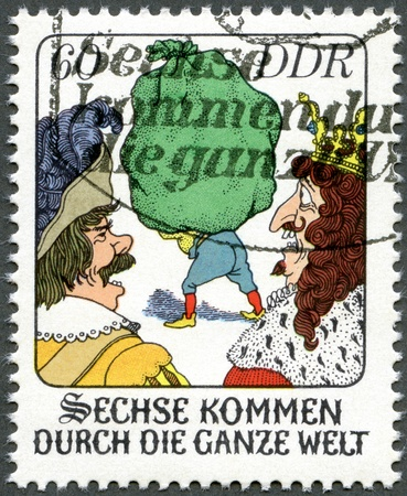 GERMANY - CIRCA 1977: A stamp printed in Germany shows scene from fairytale: