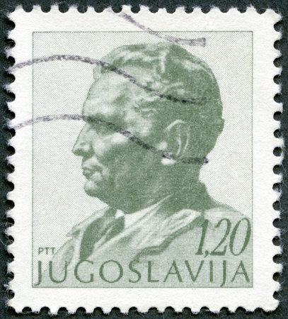 YUGOSLAVIA - CIRCA 1974: A stamp printed in Yugoslavia shows portrait of Marshal Josip Broz Tito, circa 1974 Stock Photo - 14581364