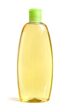 champu: Champú botella en un fondo blanco