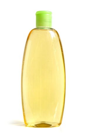 Shampoo bottle on a white background photo