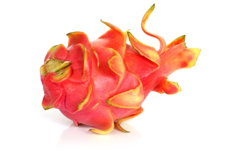 Pitaya - dragon fruit on a white background photo