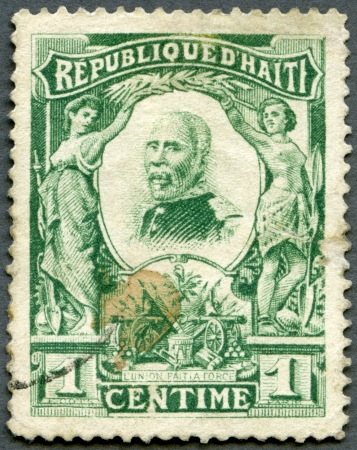 HAITI - CIRCA 1904: A stamp printed in Republic of Haiti shows President Pierre Nord Alexis (1820-1910), circa 1904 Stock Photo - 14915540