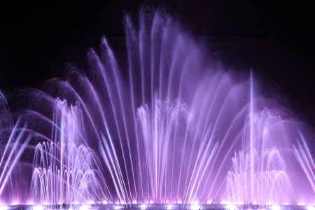 Dancing water fountain show in Protaras, Cyprus  photo