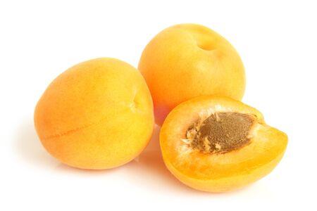 nice food: Apricots on a white background Фото со стока