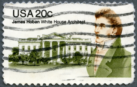 UNITED STATES - CIRCA 1981: A stamp printed in USA shows James Hoban (1758-1831), Irish-American Architect of White House, circa 1981 Stock Photo - 15156872