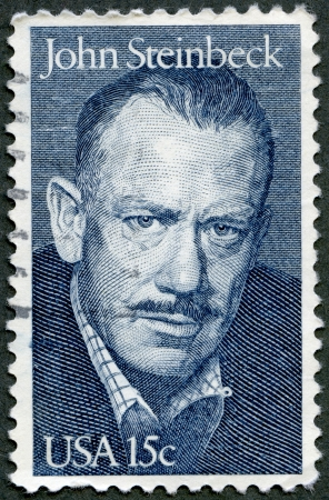 USA - CIRCA 1979: A stamp printed in USA shows portrait of John Ernst Steinbeck, Jr. (1902-1968), novelist, circa 1979 Stock Photo - 15156874