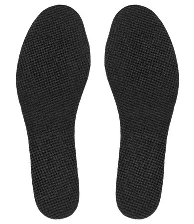 flat foot: New insoles for shoes isolated on a white background Stock Photo