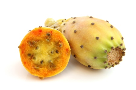 prickly pear: Prickly pears on a white background Stock Photo