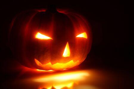 jack o lantern: Halloween pumpkin (Jack-o-lantern) on a black background