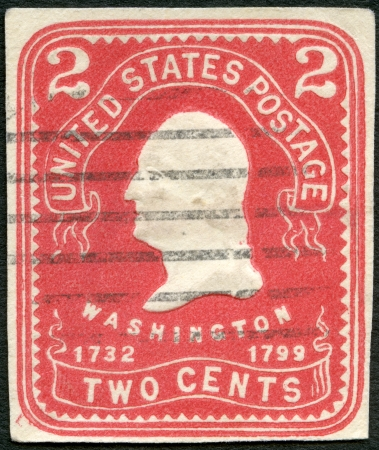united states postal service: USA - CIRCA 1903: A stamp printed in USA shows President George Washington, circa 1903 Editorial
