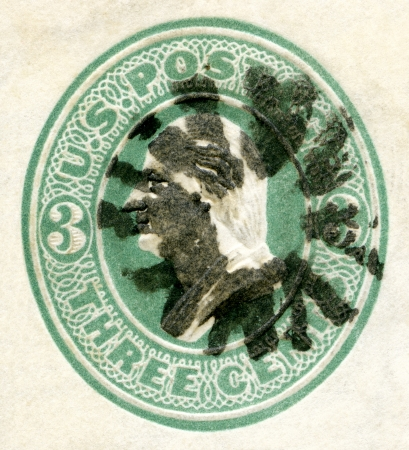 USA - CIRCA 1870s: A stamp printed in USA shows President George Washington, circa 1870s
