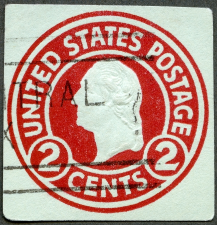 united states postal service: USA - CIRCA 1916: A stamp printed in USA shows President George Washington, circa 1916