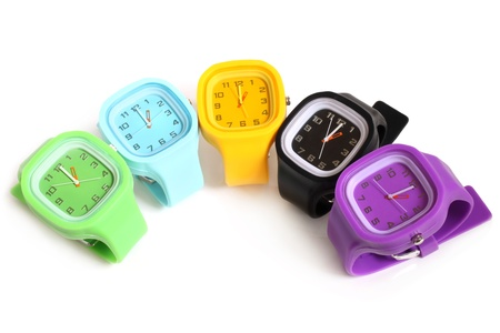 Wristwatches on a white background photo