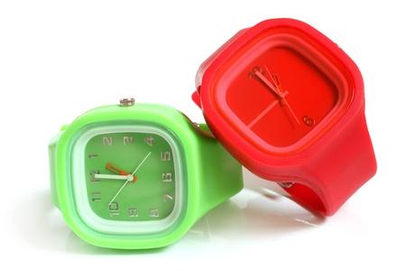 Wristwatches on a white background Stock Photo - 15614323