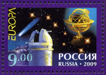 RUSSIA - CIRCA 2009  A stamp printed in Russia shows Issue by program  Stock Photo - 15670758