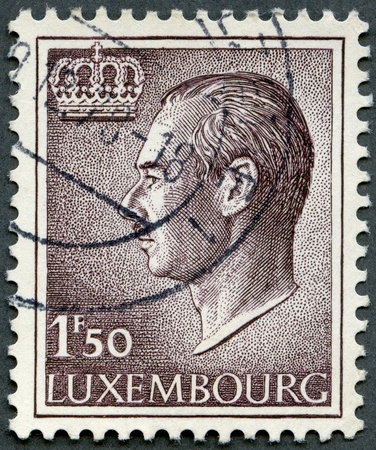 LUXEMBURG - CIRCA 1966: A stamp printed in Luxembourg shows Grand Duke Jean, circa 1966 Stock Photo - 15838253