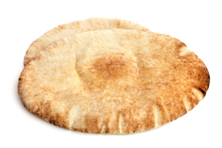 Pita bread on a white background photo