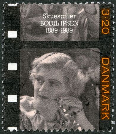 DENMARK - CIRCA 1989: A stamp printed in Denmark shows Bodil Ipsen (1889-1964), actress, circa 1989