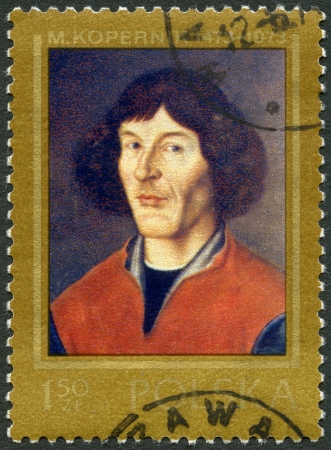 POLAND - CIRCA 1973: A stamp printed in Poland shows Nicolaus Copernicus (1473-1543), painted in Torun, 16th century, circa 1973