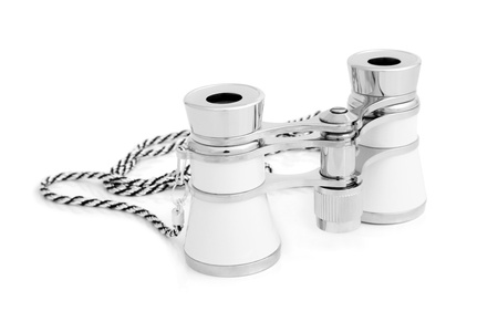 antique binoculars: Opera glasses on a white background