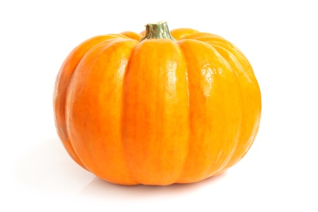 zucche halloween: Zucca fresco su uno sfondo bianco