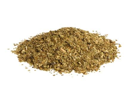 Yerba Mate-Tee auf einem weißen Hintergrund