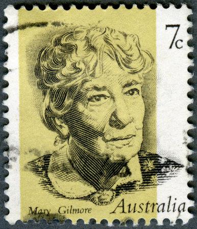 AUSTRALIA - CIRCA 1973: A stamp printed in Australia shows Dame Mary Gilmore (1865-1962), Writer, circa 1973 Stock Photo - 16743315