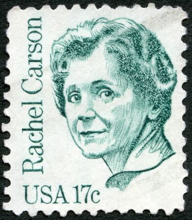 USA - CIRCA 1981  A stamp printed in USA shows Rachel Louise Carson  1907-1964 , circa 1981  Stock Photo - 16816796
