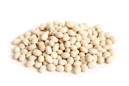 Haricot beans on a white background Stock Photo - 16992178