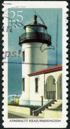 UNITED STATES OF AMERICA - CIRCA 1990: A stamp printed in USA shows Admiralty Head, Washington, series Lighthouses, circa 1990 Stock Photo - 17003510