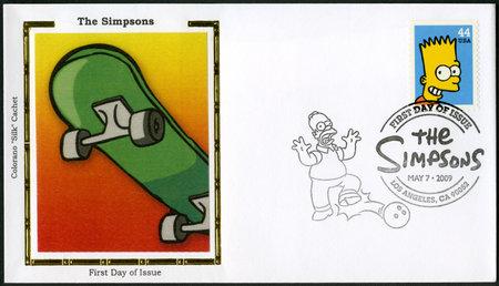 simpson: USA - CIRCA 2009: A stamp printed in United States shows Bartholomew JoJo