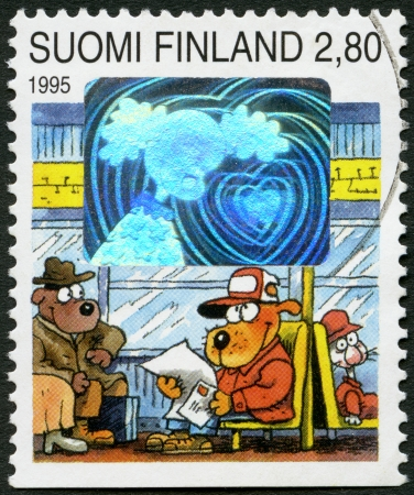 FINLAND - CIRCA 1995  A stamp printed in Finland shows