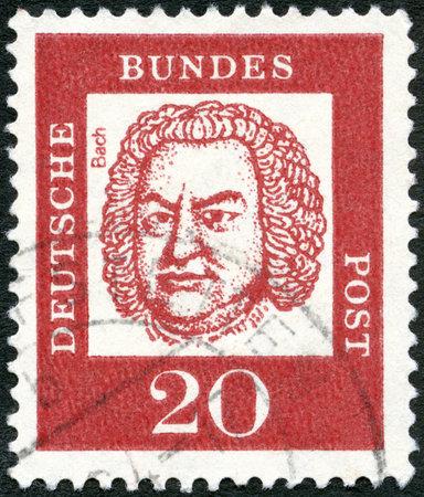 GERMANY - CIRCA 1961: A stamp printed in the Germany shows Johann Sebastian Bach (1685-1750), circa 1961 Editorial