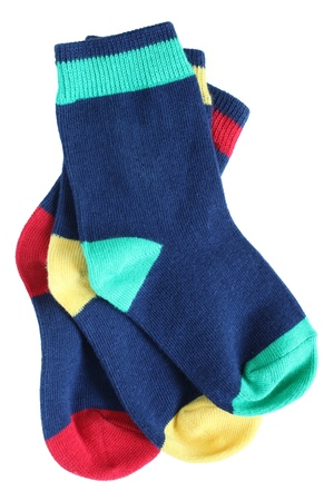 child's: Childs socks on a white background Stock Photo