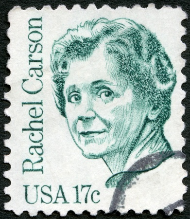united states postal service: USA - CIRCA 1981: A stamp printed in USA shows Rachel Louise Carson (1907-1964), circa 1981  Editorial