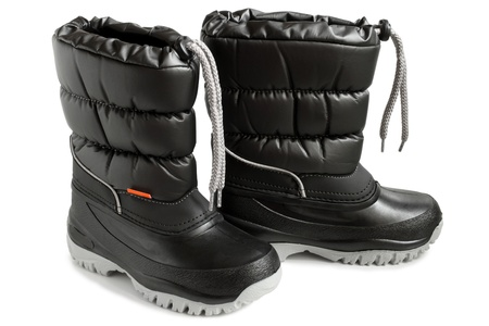 Children winter boot on a white background photo