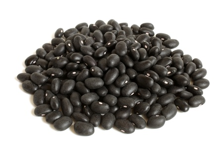Black haricot beans (Preto) on a white background Stock Photo - 17749136