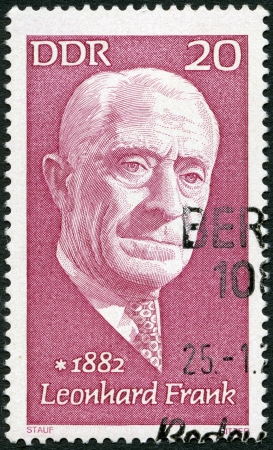 GERMANY - CIRCA 1972: A stamp printed in Germany shows Leonhard Frank (1882-1961), writer, circa 1972 Stock Photo - 17839129