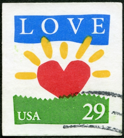 USA - CIRCA 1994: A stamp printed in USA shows word  Stock Photo - 17863760