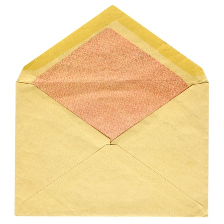 Old post envelope isolated on a white background Stock Photo - 17972340