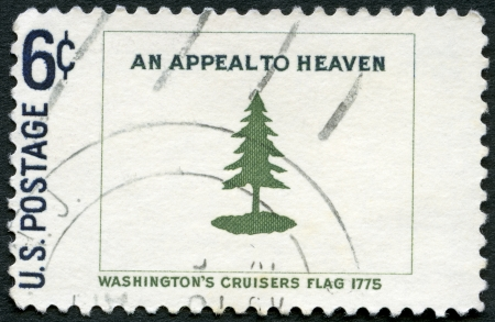 appeals: USA - CIRCA 1968: A stamp printed in USA shows Washingtons Cruisers flag, 1775, circa 1968