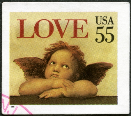 USA - CIRCA 1995: A stamp printed in USA shows word  Stock Photo - 17973006