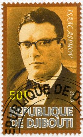 djibouti: DJIBOUTI - CIRCA 2010: A stamp printed in Republic of Djibouti shows Isaac Asimov (1920-1992), circa 2010 Editorial